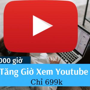 Tăng 4000 giờ youtube
